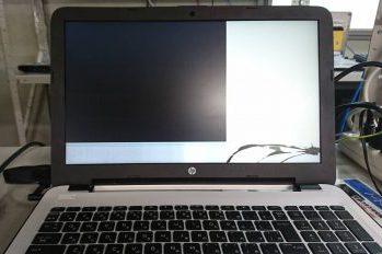 HPノートパソコン液晶割れ→液晶交換修理