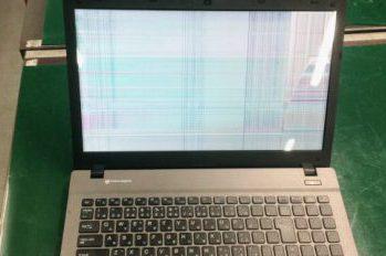 マウスコンピューターのノートパソコン液晶割れ→液晶交換修理