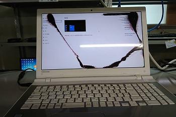東芝のノートPCの液晶修理のご依頼…液晶交換修理